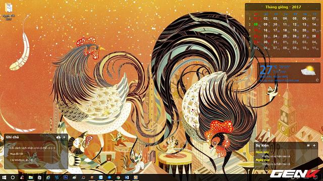 """Sau khi đã lên lịch xong """"chương trình Tết"""" của mình bằng CalendarDC, công việc còn lại của bạn bây giờ là thiết lập những hình ảnh đã tải về ở phía trên làm ảnh nền desktop nữa là xong. Nhìn không tệ phải không…"""