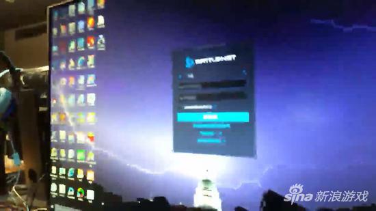 Tài khoản đăng nhập vào Battle.net trên máy tính của Vin Diesel