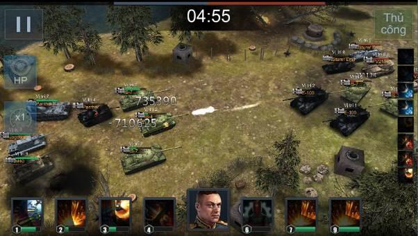 Một trận chiến trong game Chiến Tank Huyền Thoại