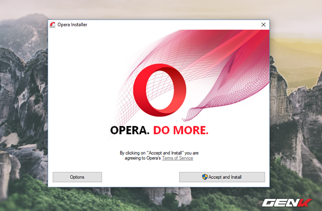 Giao diện cài đặt đơn giản và tự động có lẻ là ưu điểm mà người dùng thích nhất ở trình duyệt Opera.