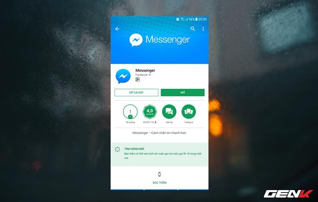 Trước tiên, bạn cần cập nhật ứng dụng Messenger trên chiếc smartphone của mình lên phiên bản mới nhất.