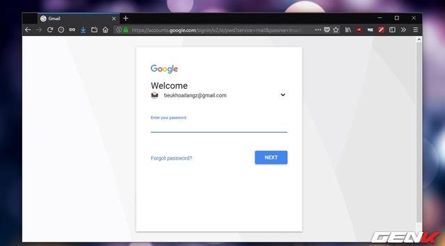 Bước 1: Mở trình duyệt web trên máy tính và truy cập vào trang Gmail.com, sau đó tiến hành đăng nhập vào tài khoản.