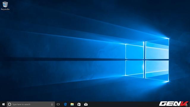 Nhìn chung, giao diện desktop của Windows 10 Fall Creators không có nhiều thay đổi so với phiên bản trước. Tuy nhiên, phía dưới taskbar sẽ có thêm biểu tượng của ứng dụng Pepple.