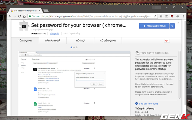 Bước 1: Khởi động trình duyệt Google Chrome và truy cập vào địa chỉ này để cài đặt.
