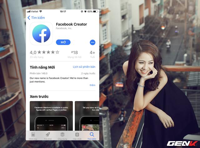 Tương tự như bao ứng dụng khác được Facebook phát hành trên nền tảng iOS hay Android, Facebook Creator được cung cấp hoàn toàn miễn phí.