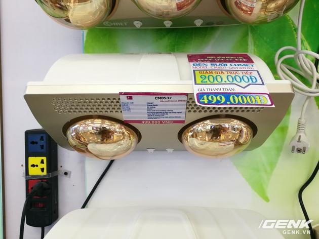 Chiếc đèn sưởi hồng ngoại 2 bóng của hãng Comet này đang được giảm giá 200.000 đồng