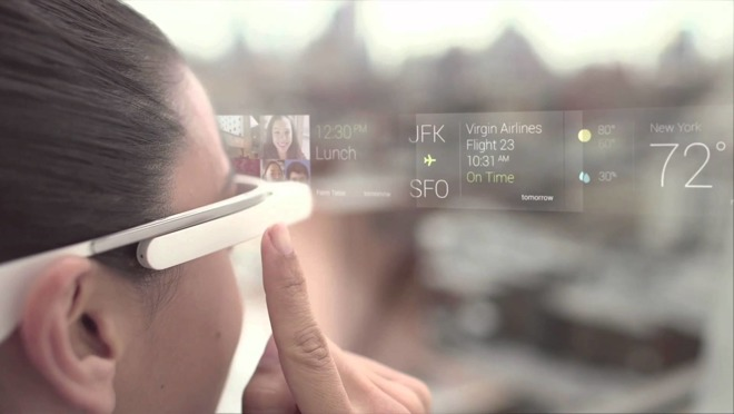 Google Glass của xưa kia, thiết bị tích hợp hiển thị thực tế tăng cường.