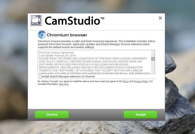 """Quá trình cài đặt CamStudio tuy đơn giản nhưng nó cũng """"ẩn chứa"""" một số các cài đặt phần mềm không liên quan nên bạn đọc cần lưu ý để tránh cài """"nhầm""""."""