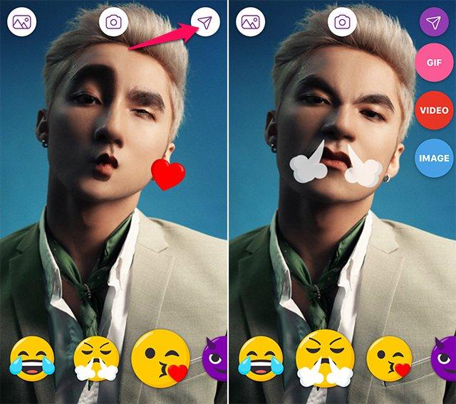 Ứng dụng cho phép bạn lựa chọn xuất dưới dạng ảnh GIF, video hoặc ảnh tĩnh.