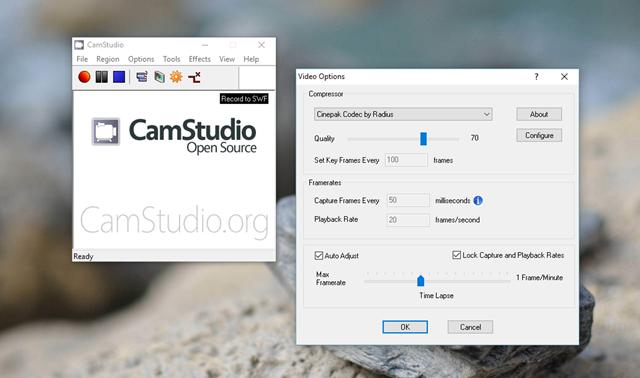 Định dạng video xuất ra của CamStudio sau khi hoàn tất việc ghi hình là AVI, do đó chất lượng hình ảnh sẽ cực kì tốt. Bên cạnh đó, phần mềm cũng hỗ trợ người dùng chế độ ghi hình toàn màn hình hoặc một phần màn hình tùy theo điều chỉnh của bạn.