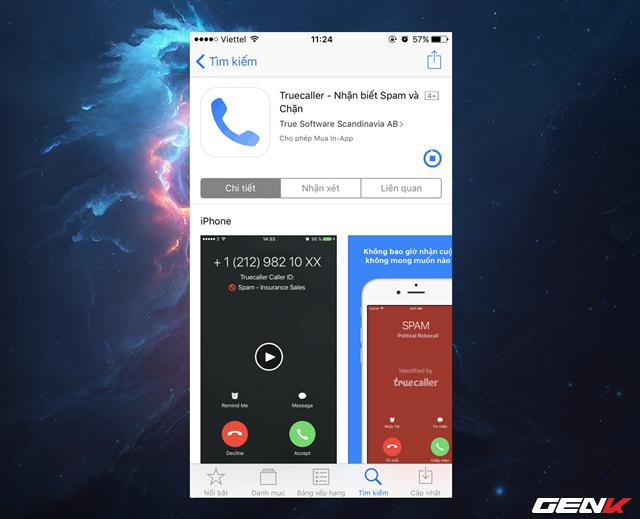 TrueCaller cho phép bạn có thể dõi ai là người gọi đến, ngay cả khi liên lạc đó không nằm trong danh bạ của bạn; chặn các cuộc gọi không muốn nếu phát hiện đó là cuộc gọi lừa đảo hay cuộc gọi quảng cáo; tìm kiếm tên người dùng khác hay thông tin liên quan đến số điện thoại bất kỳ…