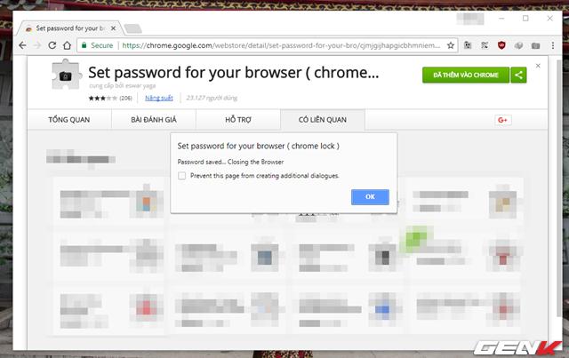 """Bước 3: Nhấn """"OK"""" lần nữa để tắt hoàn toàn Google Chrome để ứng dụng phát huy tác dụng."""