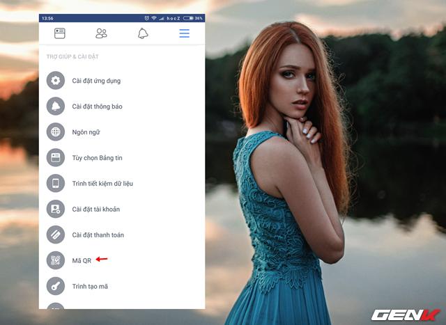 """Bước 3: Đảm bảo rằng ứng dụng Facebook trên thiết bị smartphone của bạn là bản mới nhất, sau đó khởi động ứng dụng và truy cập vào tùy chọn """"Mã QR"""" ở menu TRỢ GIÚP & CÀI ĐẶT."""