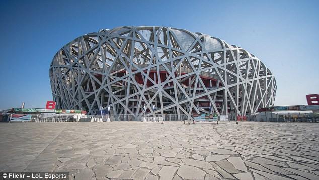 Sân vân động Tổ chim tại Bắc Kinh, Trung Quốc, nơi diễn ra giải đấu và trận chung kết