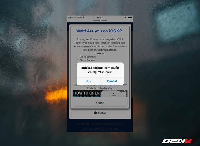 """Thiết bị sẽ hiển thị hộp thoại hỏi bạn có muốn cài đặt ứng dụng hay không, hãy nhấn """"Cài đặt"""" để xác nhận."""