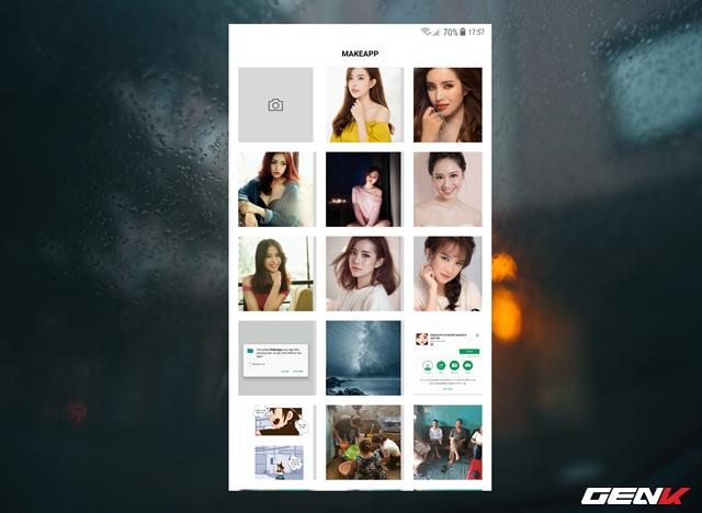 Bây giờ bạn hãy chọn một ảnh trong thiết bị mà bạn muốn xem mặt mộc hoặc sử dụng lựa chọn camera để chụp ảnh.