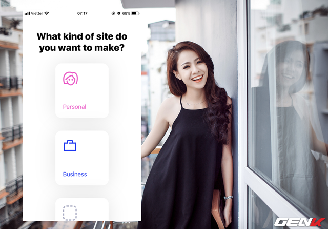 Bước 4: Lựa chọn nhóm site mà bạn muốn tạo. Nếu là cá nhân, hãy chọn Personal. Còn nếu là doanh nghiệp, hạy chọn Business.