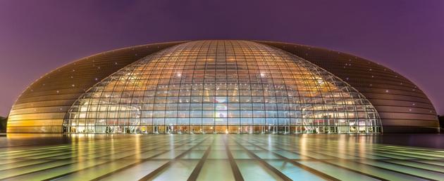 National Center of Performing Arts tại Bắc Kinh, Trung Quốc. Được thiết kế bởi KTS Paul Andrew.