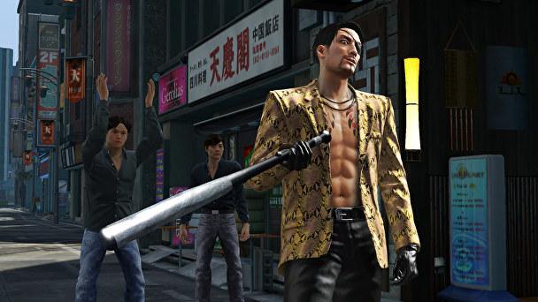 Một hình ảnh trong phiên bản Yakuza Kiwami.
