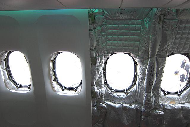 Lớp cách nhiệt trên Boeing 747.