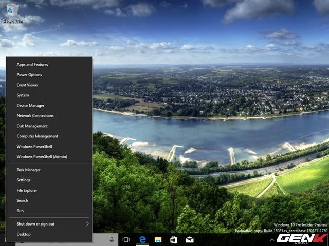 Windows PowerShell vẫn còn hiện diện trong menu phải chuột ở nút Start, nhưng nó không hoạt động được.