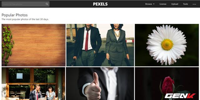 Pexels giống như một bộ sưu tập ảnh stock khổng lồ. Trang web này thu thập hình ảnh stock từ nhiều nguồn, do đó có thể xem đây là một bộ sưu tập đa dạng. Và điều đương nhiên, tất cả ảnh điều tuân theo giấy phép Creative Commons Zero nên bạn có thể sử dụng cho mục đích cá nhân hoặc thương mại.