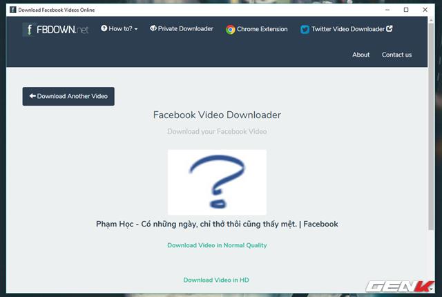 Chờ vài giây, dịch vụ sẽ tiến hành Get Link và cung cấp cho người dùng 2 lựa chọn tải video theo 2 dạng, chất lượng thông thường (Download Video in Normal Quality) và chất lượng cao (Download Video in HD).