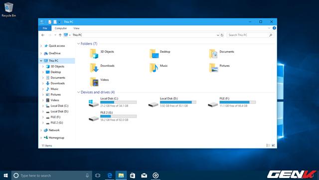 """File Explorer sẽ có thêm thư mục """"3D Objects"""" trong danh sách các thư mục mặc định của hệ thống. Đây có thể xem là """"khu vực"""" chứa các hình ảnh hay thiết kế mô hình 3D mà người dùng soạn thảo bằng các ứng dụng 3D trên máy tính."""