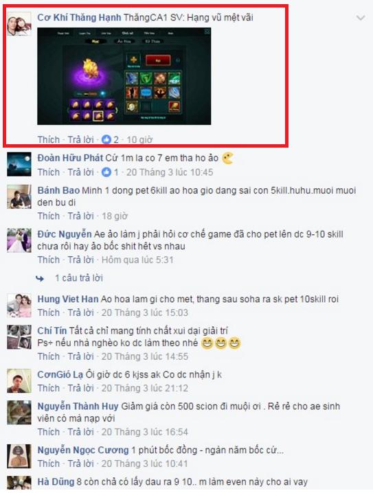Những lời bình luận đầy thán phục và ngưỡng mộ mà cộng đồng chơi Chinh Đồ 2 dành cho đại gia ThăngCA1.