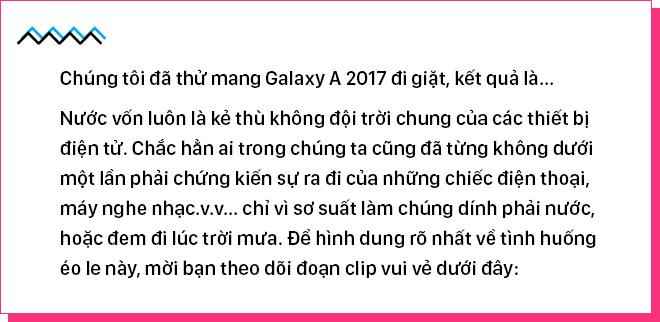 [Magazine] Chúng tôi đã thử mang Galaxy A 2017 đi giặt, kết quả là... - Ảnh 1.