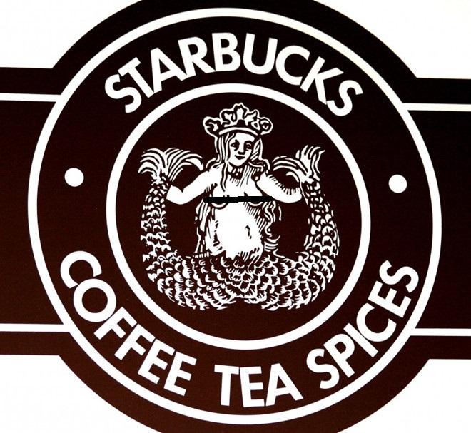 Biểu tượng ban đầu của Starbucks là một nàng tiên cá khá lõa lồ với hai cái đuôi