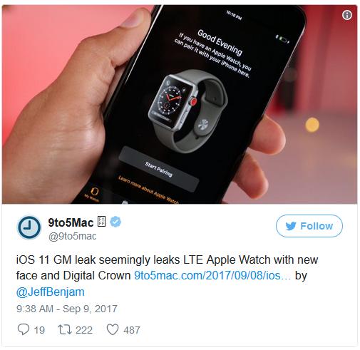 Chiếc Apple Watch LTE với diện mạo mới.