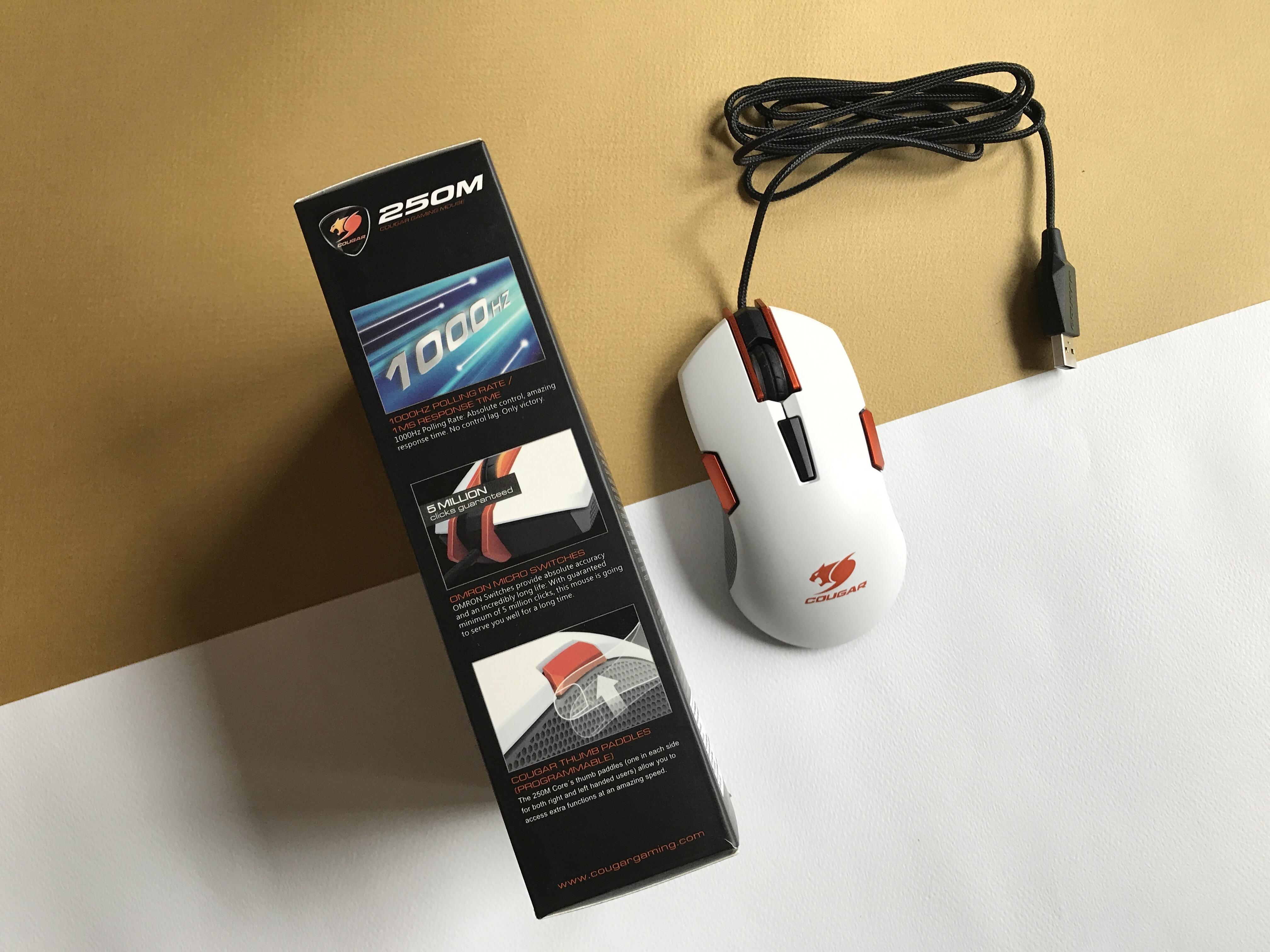 Kết quả hình ảnh cho Cougar 250M Black RGB Led - Optical Pro Gaming Mouse