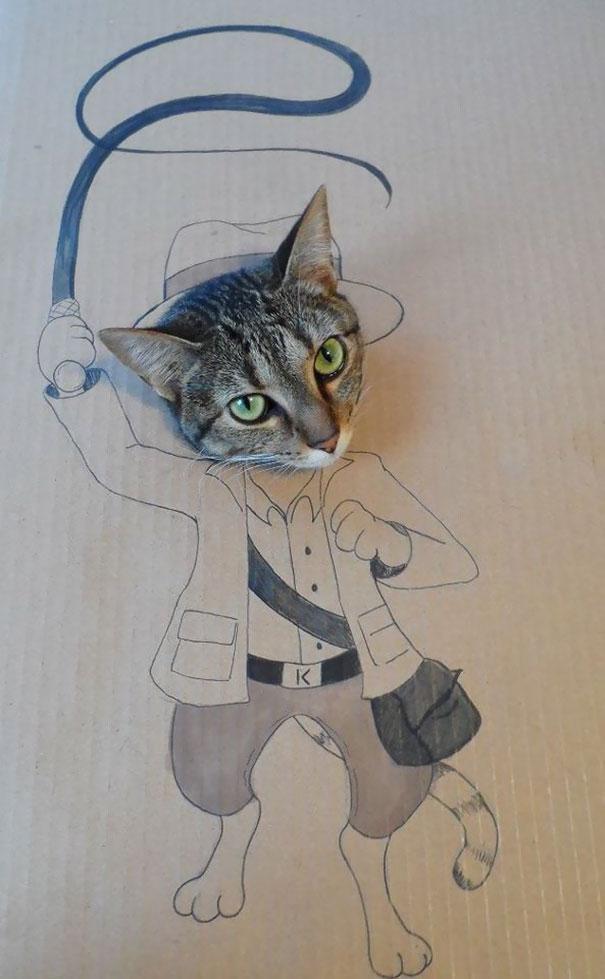 Đi vắng một tuần, gửi mèo cho bạn thân và mỗi hôm nhận được một tấm hình như thế này
