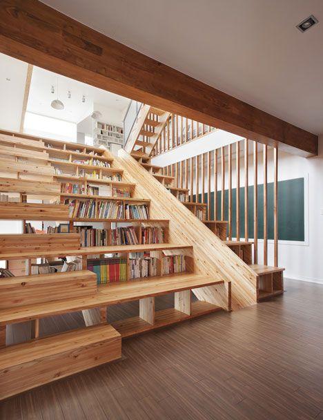 Cầu thang kết hợp cầu trượt cho lũ trẻ? Thật tuyệt phải không nào?