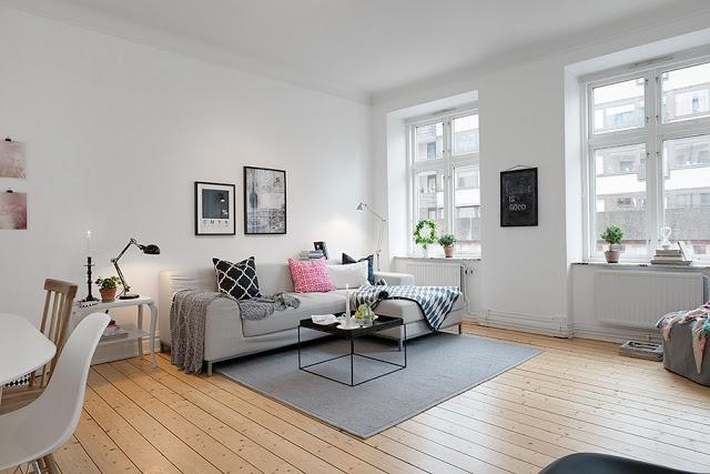 Màu trắng chính là màu chủ đạo của phong cách nội thất này