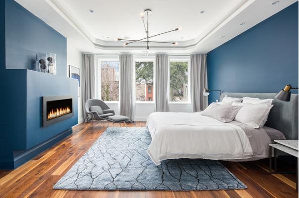 Phòng ngủ xanh trắng