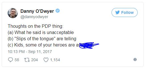 Chút suy nghĩ về vụ việc PDP: Những gì hắn nói không chấp nhận được, đây không phải là lỡ mồm, và mấy nhóc à, một số thần tượng của các nhóc thực ra là những thằng chẳng ra gì