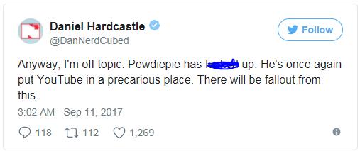 Một lần nữa PewDiePie lại gây ra ảnh hưởng không nhỏ đến Youtube. Hậu quả sau chuyện này sẽ khá nặng nề