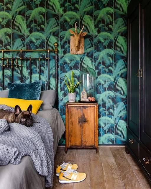Một phông nền nhã nhặn và sâu sắc cho phòng ngủ Tropical Style.