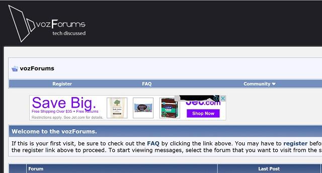 Phần lớn các trang web đều scale đúng mức. Nhưng cũng có những thành phần trở nên lọt thỏm như mẩu quảng cáo trên VOZ.