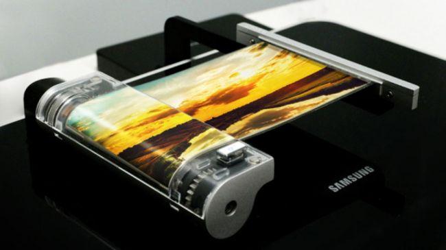 Thiết bị màn hình cuộn của Samsung tại Triển lãm SID 2016.