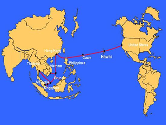 Đây là lần thứ hai trong năm 2017 tuyến cáp quang biển quốc tế AAG gặp sự cố (Nguồn ảnh: Internet)