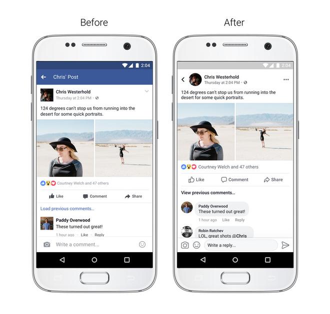 Facebook đã thay đổi giao diện mới, xanh thành trắng, vuông thành tròn