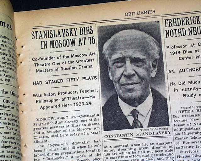 Constantin Stanislavski (1863 -1938) - cha đẻ của Method Acting, đồng sáng lập Nhà hát nghệ thuật Moscow