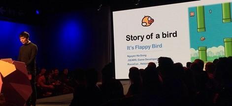 Nguyễn Hà Đông chia sẻ về Flappy Bird tại sự kiện Roviocon 2017