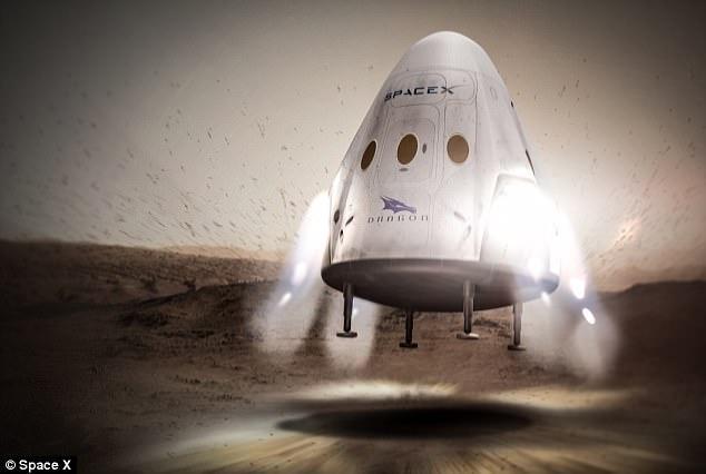 Tàu Rồng Đỏ của SpaceX.
