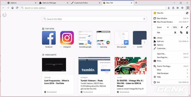 Trải nghiệm Firefox Quantum: nhanh hơn, mạnh hơn và đẹp hơn, có tính năng cắt chụp màn hình, máy yếu dùng cũng ngon, Chrome nên dè chừng - Ảnh 2.