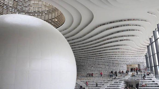 Bạn biết thư viện khổng lồ ở Trung Quốc chứ? Một nửa số sách ở đó không có chữ! - Ảnh 3.