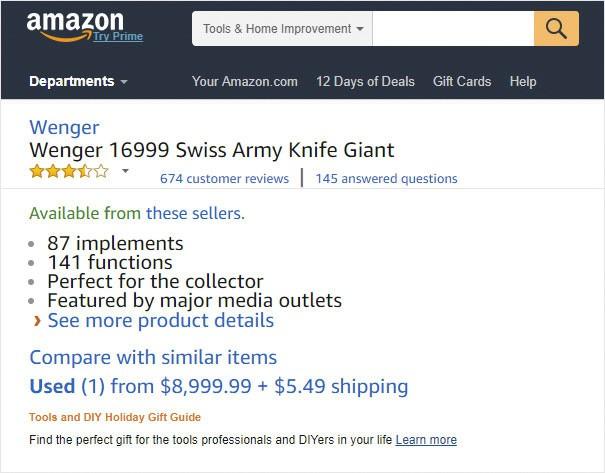 [Vui] Cười bò với những đánh giá hài hước về bộ dao thần kỳ 141 chức năng, trị giá 204 triệu trên Amazon - Ảnh 1.